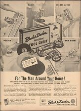 1955 vintage Christmas Ad BLACK & DECKER Electric Tool Chest Drill Sand 021816)
