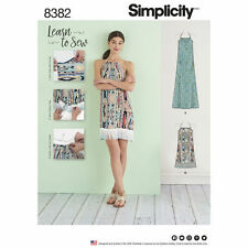 Simplicity 8382 aka 0662 EASY Learn-to-Sew Halter Dress Pattern Misses' 4-26