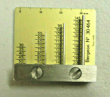 Bergeon Gauge for Measuring Holes as in Watch Bands, Watchmaker Estate Tool