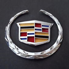 "For Cadillac Front Grille 6"" Emblem Hood Badge Logo Chrome Color Symbol Ornament"