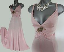 Karen Millen Light Pink Jersey Marilyn Style Flare Tea Cocktail Dress UK10 EU38