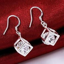 Crystal charm Fashion 925 Silver plated cute women pretty wedding Earring E583
