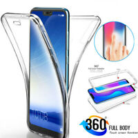 360° Full Body Clear Silicone Case Cover For Xiaomi Redmi Note 8T 8 7 6 5 Pro 4X
