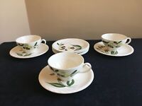 LOT OF 10-pcs Blue Ridge Southern Pottery SPRAY Cups (3) & Saucers (7)