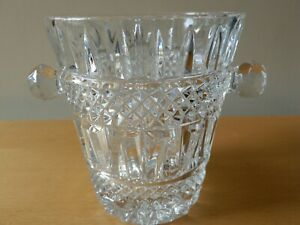 1970's Retro, Pressed Crystal Glass Ice Bucket/ Wine Cooler
