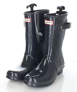 96-42 $140 Women's Sz 10 M Hunter Original Short Gloss Waterproof Rain Boot​