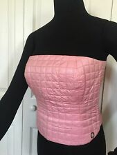 Chanel Quilted Top Strap Less, Pink