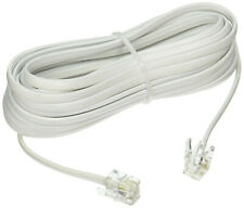 25feet/foot/ft Telephone Phone Extension Cord Cable Line Wire DSL/Landline{WHITE