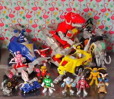 Imaginext Power Rangers Bundle - 11 Figures, Weapons and 5 Zords with Missiles