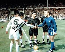 Ron Chopper HARRIS & Dave MACKAY Signed Autograph 10x8 FA Cup Photo AFTAL COA