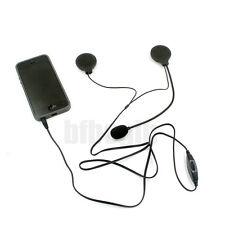 Motorcycle Bike Helmet Speakers + Mic Volume Control Headset For MP3 Phone IPOD