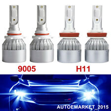 4X 9005 HB3 H10+ H11 H8 H9 CREE LED Headlight  Combo High & Low Beam 400W 12000K
