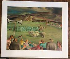 Harry Epworth Allen - Limited edition print - 'Sheepdog trials' c.1930