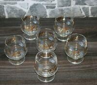VP3-23) 6x Glas Cognac Gläser Schwenker Jugendstil-Motiv H:9cm Ø7cm Bar Tasting
