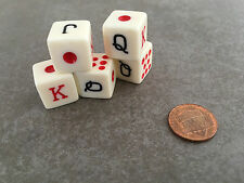 SPANISH POKER DICE GAME 1 SET 16mm  5 DICE TOTAL TEXAS HOLDEM