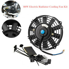80W 12V Car Electric Radiator Cooling Fan Kit 7 Inch 800 CFM 2200 RPM Plastic