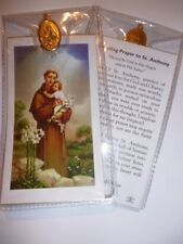 St ANTHONY~ Prayer Card & Medal | PACK OF THREE
