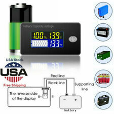 Durable 12/24/48V Battery Capacity Status Lcd Digital Indicator Monitor Meters
