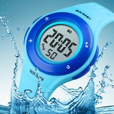 SKMEI Kids Waterproof Sport Date LED Electronic Digital Watch For Girl Boy Gift