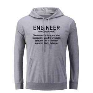 Engineer Noun Humour Hoodies Unisex Sweatshirt Inspiring Slogan Hoody Hooded Top
