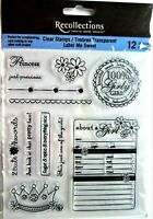 Girly Girl Princess Sayings Clear Acrylic Stamp Set by Recollections 119945 NEW!