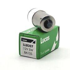 Lucas LLB207 Clear Bayonet Fit 12V Side Light Bulb, 5W R5W BA15S Pack of 2