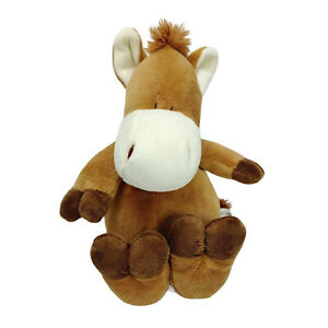 Korimico Brown Horse Pony Plush Soft Stuffed Animal Toy Washed and Clean 23cm