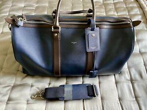 HACKETT LONDON Boston leather cabin bag RRP £460 blue