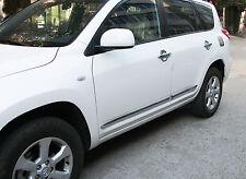 Chrome Body Side Line Moulding Protector Cover Garnish For Toyota RAV4 06-12