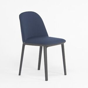 2018 Vitra Softshell Side Chair w/ Dark Blue Fabric by Ronan & Erwan Bouroullec