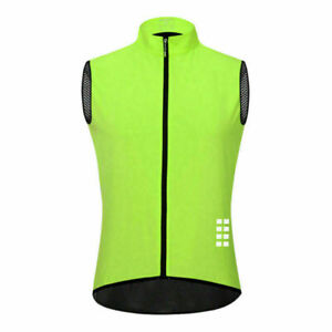 Summer Cycling Vest Reflective Mesh Back High Breathable Sleeveless Jersey Tops
