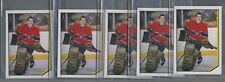 1986-87 O-Pee-Chee Patrick Roy Rookie Stickers #19 Lot of 5