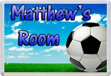 Personalised Any Name Football Childs Door Plaque Sign Ideal for Bedrooms &