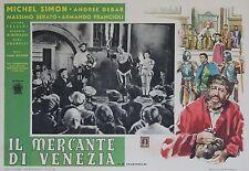 """""""LE MARCHAND DE VENISE"""" Affiche italienne originale entoilée (Michel SIMON)"""