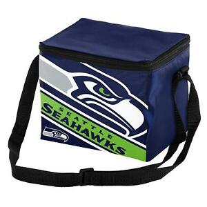Seattle Seahawks Insulated soft side Lunch Bag Sports School Cooler Striped Logo