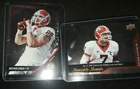2014 Upper Deck Conference Greats Georgia Bulldogs UGA 5 Card Chrome Lot