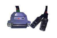 Neu Midi Interface Adapter Kabel DIN5 Serie DB25 - Amiga 500 600 1200 Etc. #554