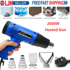 2000W Heat Gun Hot Air Gun Adjustable Temperature Varnish Restoration 4 Nozzles