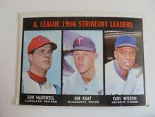 TOPPS 1966 A.L. STRIKEOUT LEADERS CARD#237 NICE WITH FREE SHIPPING