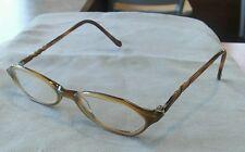 Nicole Miller InfoChic Women's Eyeglasses Frames 46[]18 135 Beeswax +1.00 lenses