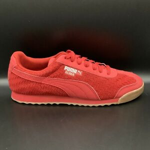 PUMA Mens Roma Weave Update Sneakers Cherry Red 364500 02 Lace Up Low Top 10