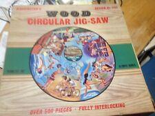 Complete Waddington's 1964 Tokyo Olympics Circular Jigsaw In Original Box - 500+