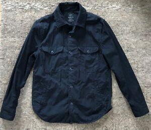 Save Khaki United S.K.U. Men's Shirt Jacket XS Navy Blue Made in USA