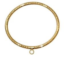 Nikki Lissoni Yellow Gold Plated Bangle Illuminate Joy Passion 19cm B1071S