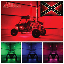 LED Lighted 6' Whip with WIRELESS Remote- ATV UTV RZR w/Rebel