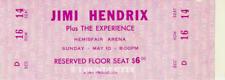 1 1970 JIMI HENDRIX VINTAGE UNUSED FULL TICKET SAN ANTONIO PINK laminated repro