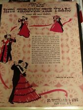 Waltz Hits Through the Years Vintage Song Book-1953-Voice,Piano,Guitar