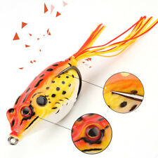 New listing 6g Cute Large Frog Topwater Fishing Lure Crankbait Hooks Bass Bait Tackle Red
