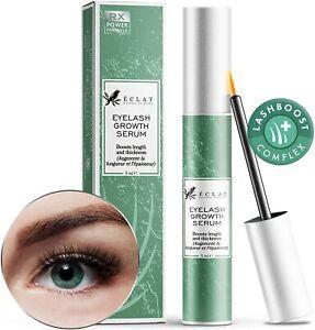 Eclat Skincare Eyelash Growth Serum for Longer Fuller Thicker Lashes - UK Stock