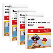 400 Sheets Koala 8.5x11 Premium Glossy Inkjet Printer Photo Paper Brochure HP
